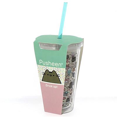 Pusheen Beaker With Straw