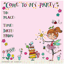 Buy Rachel Ellen Fairy Party Invitations, Pack of 8 Online at johnlewis.com