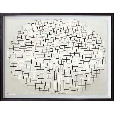 Piet Mondrian – Composition No.10 Pier & Ocean Framed Print, 65 x 80cm