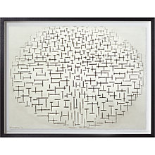 Buy Piet Mondrian - Composition No.10 Pier & Ocean Framed Print, 65 x 80cm Online at johnlewis.com