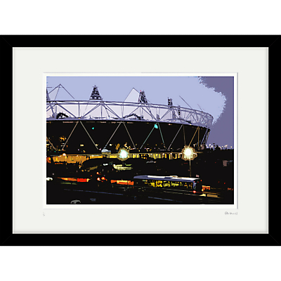 Cath Harries – Limited Edition Olympic Stadium At Night Framed Print, 44 x 58cm