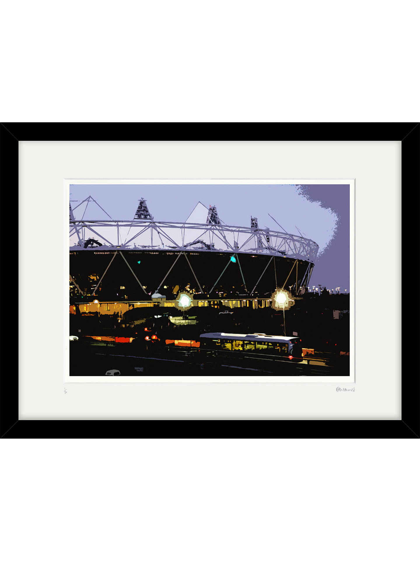 BuyCath Harries - Limited Edition Olympic Stadium At Night Framed Print, 44 x 58cm Online at johnlewis.com