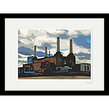 Buy Cath Harries - Limited Edition Battersea Power Station Framed Print, 44 x 58cm Online at johnlewis.com