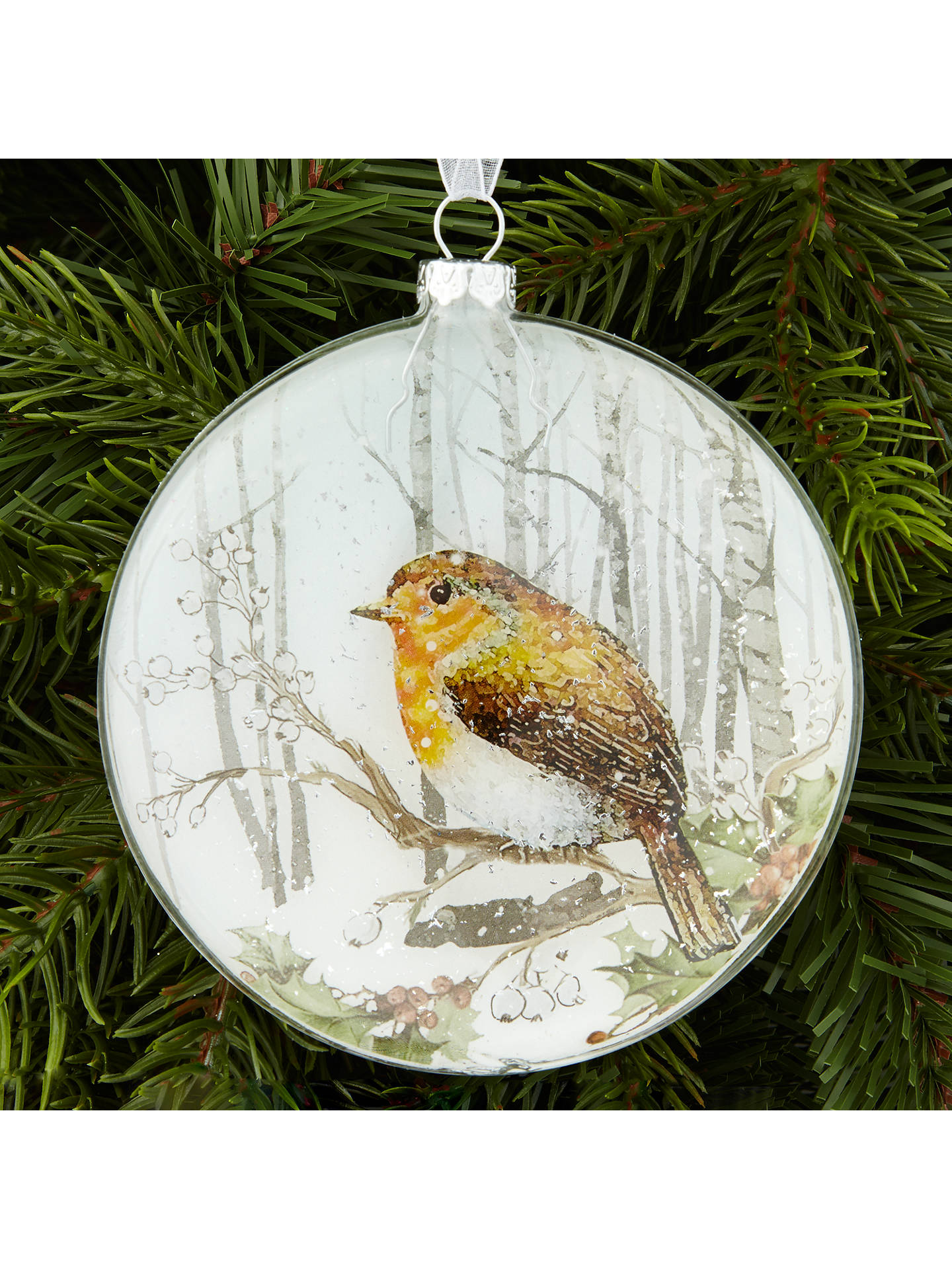 Buy John Lewis Snowshill Robin Winter Scene Bauble Online at johnlewis.com