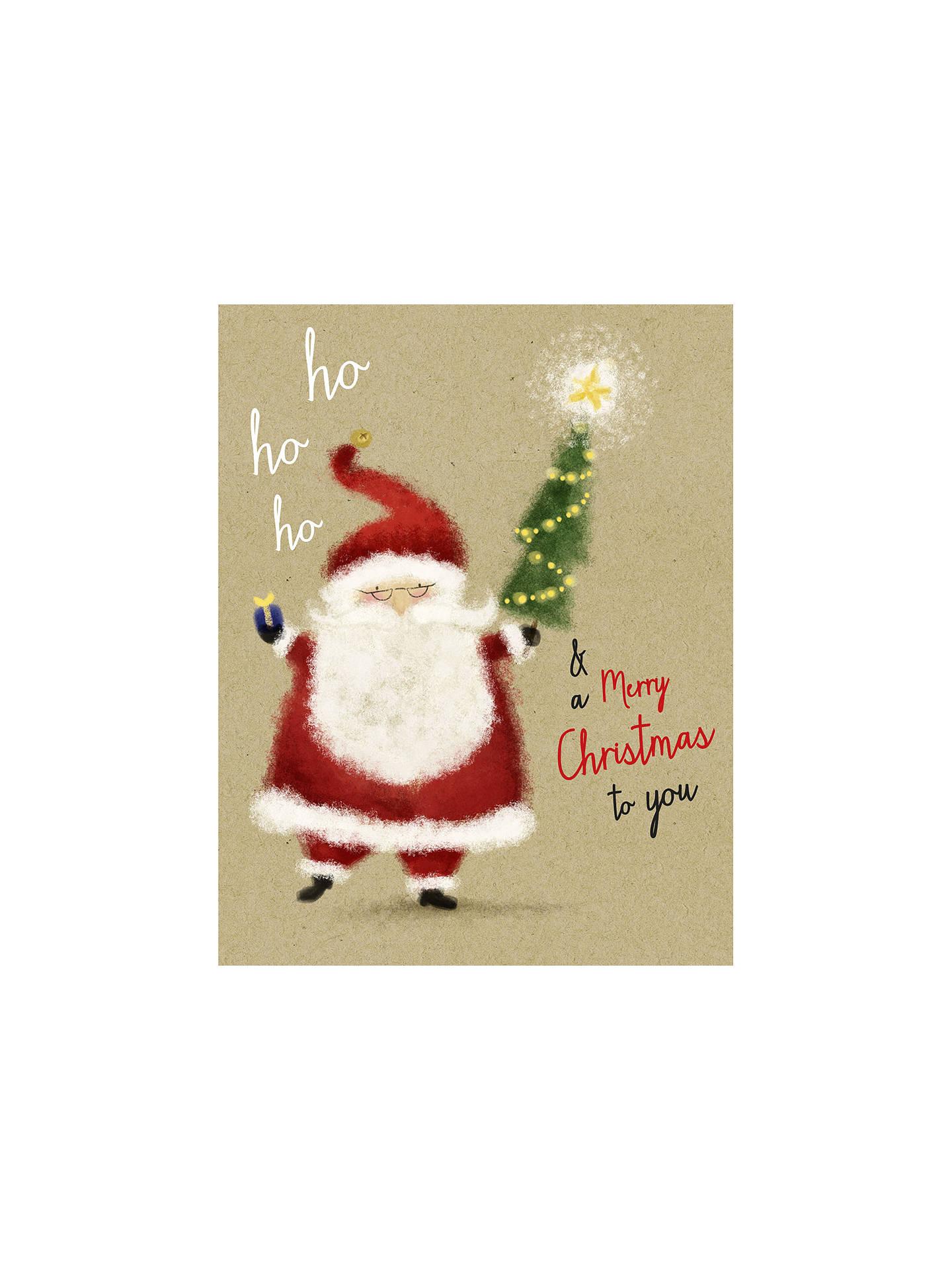 UK Greetings Ho Ho Ho Santa Charity Christmas Cards, Pack of 12 ...