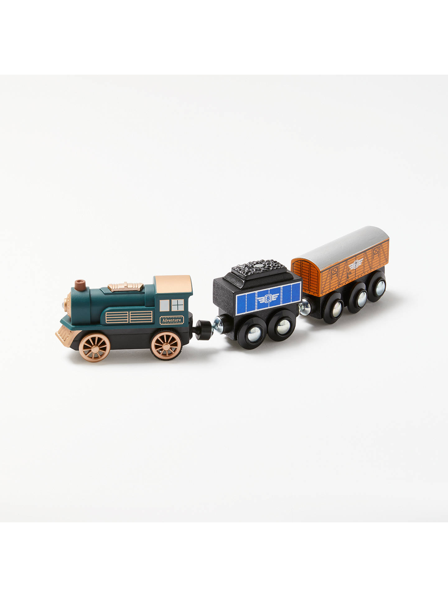 John Lewis Partners Wooden Train And Cargo Set