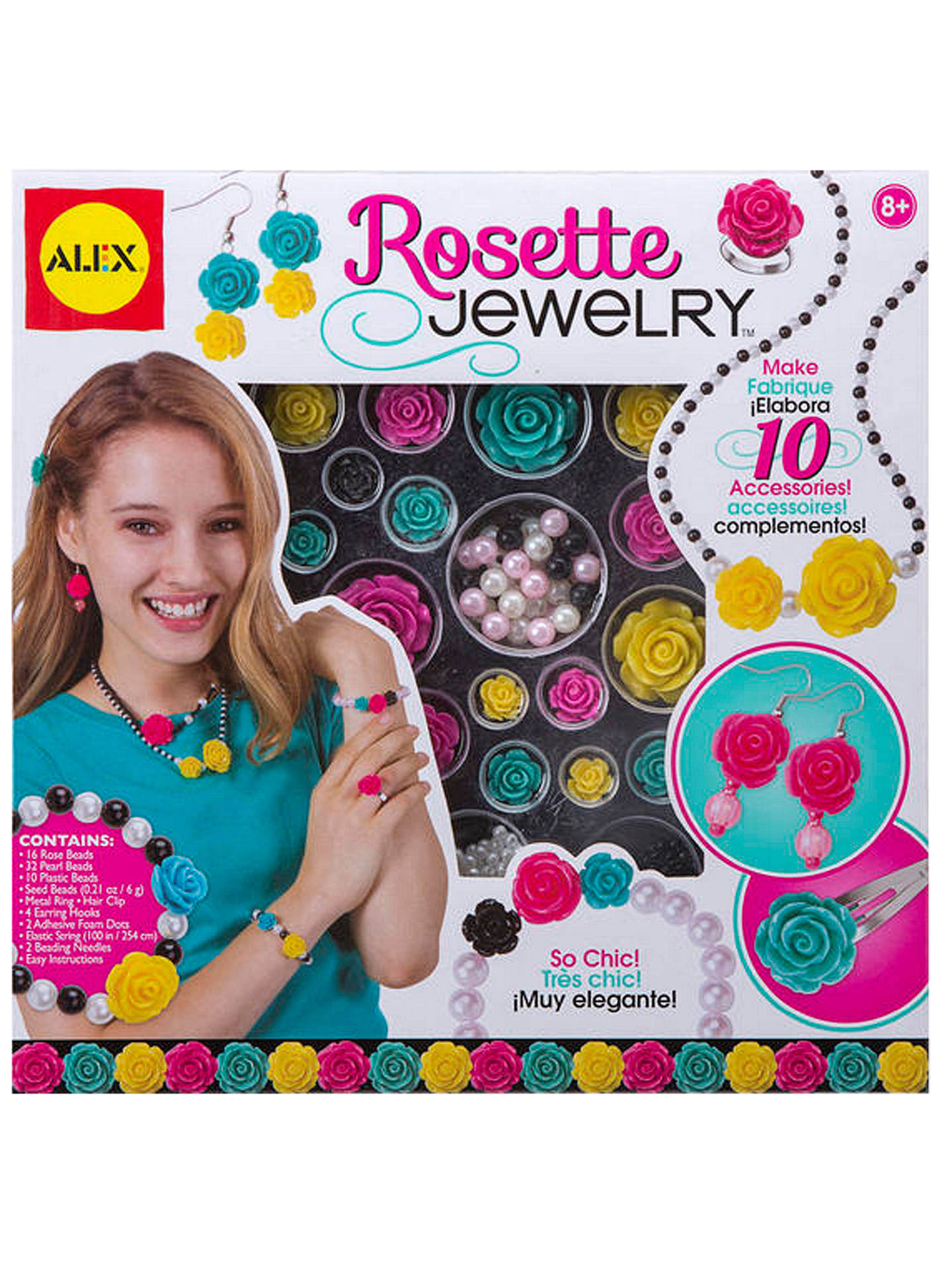 BuyALEX Rosette Make Your Own Jewellery Kit Online at johnlewis.com