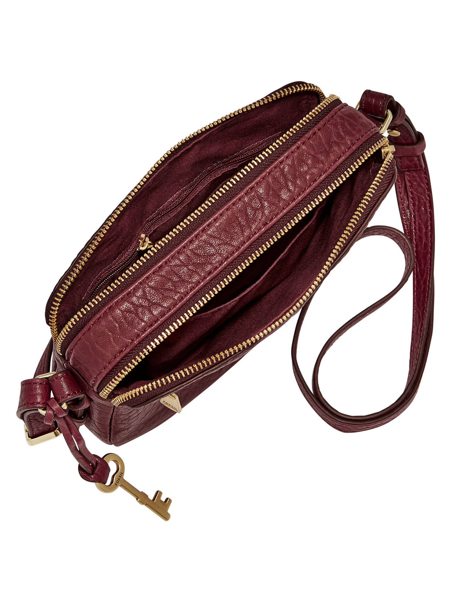 Fossil Piper Toaster Leather Across Body Bag Wine At John