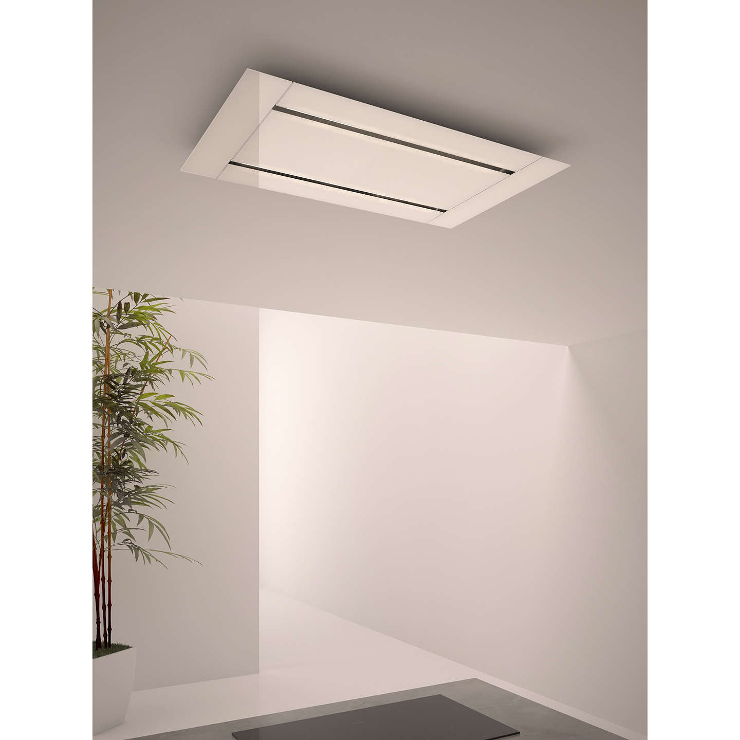 BuyJohn Lewis JLHDA918 Ceiling Cooker Hood, White Online at johnlewis.com