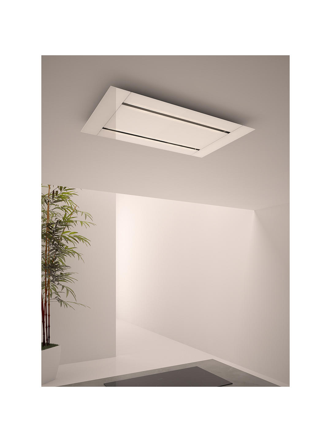 Buy John Lewis & Partners JLHDA918 Ceiling Cooker Hood, White Online at johnlewis.com