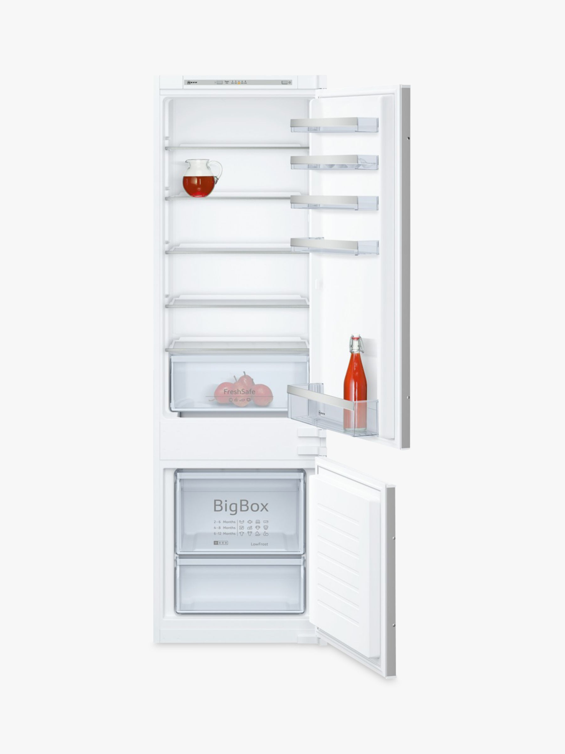 NEFF Neff KI5872S30G Integrated Fridge Freezer, A++ Energy Rating, 55cm Wide