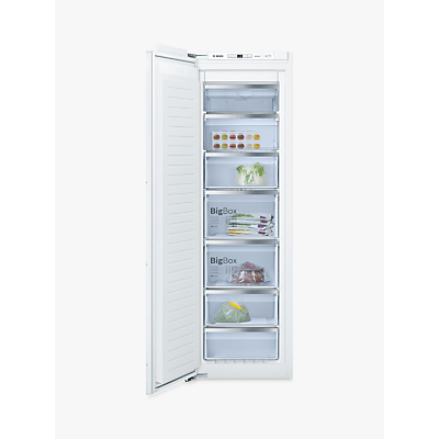 Image of Bosch GIN81AE30G Integrated Upright Freezer, A++ Energy Rating, Frost Free, 62cm Wide, White