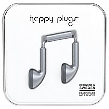 Buy Happy Plugs Earbud Headphones with Mic/Remote Online at johnlewis.com