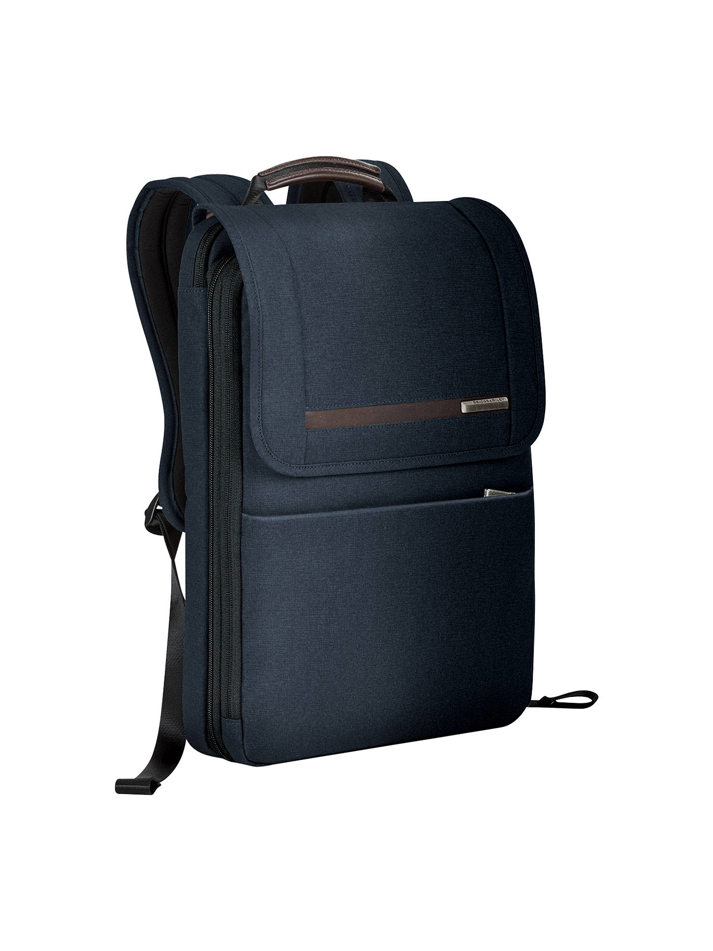 Buy Briggs & Riley Kinzie Flapover Expandable Backpack, Navy Online at johnlewis.com