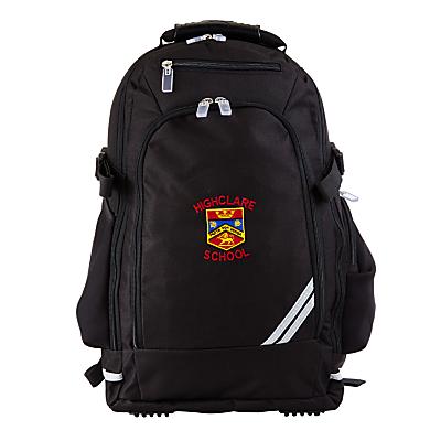 Product photo of Highclare school rucksack black