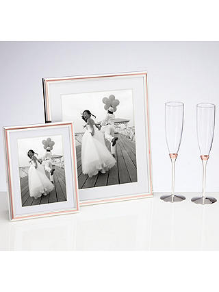 "Buy kate spade new york Rosy Glow Photo Frame, 8 x 10"", Silver/ Rose Online at johnlewis.com"