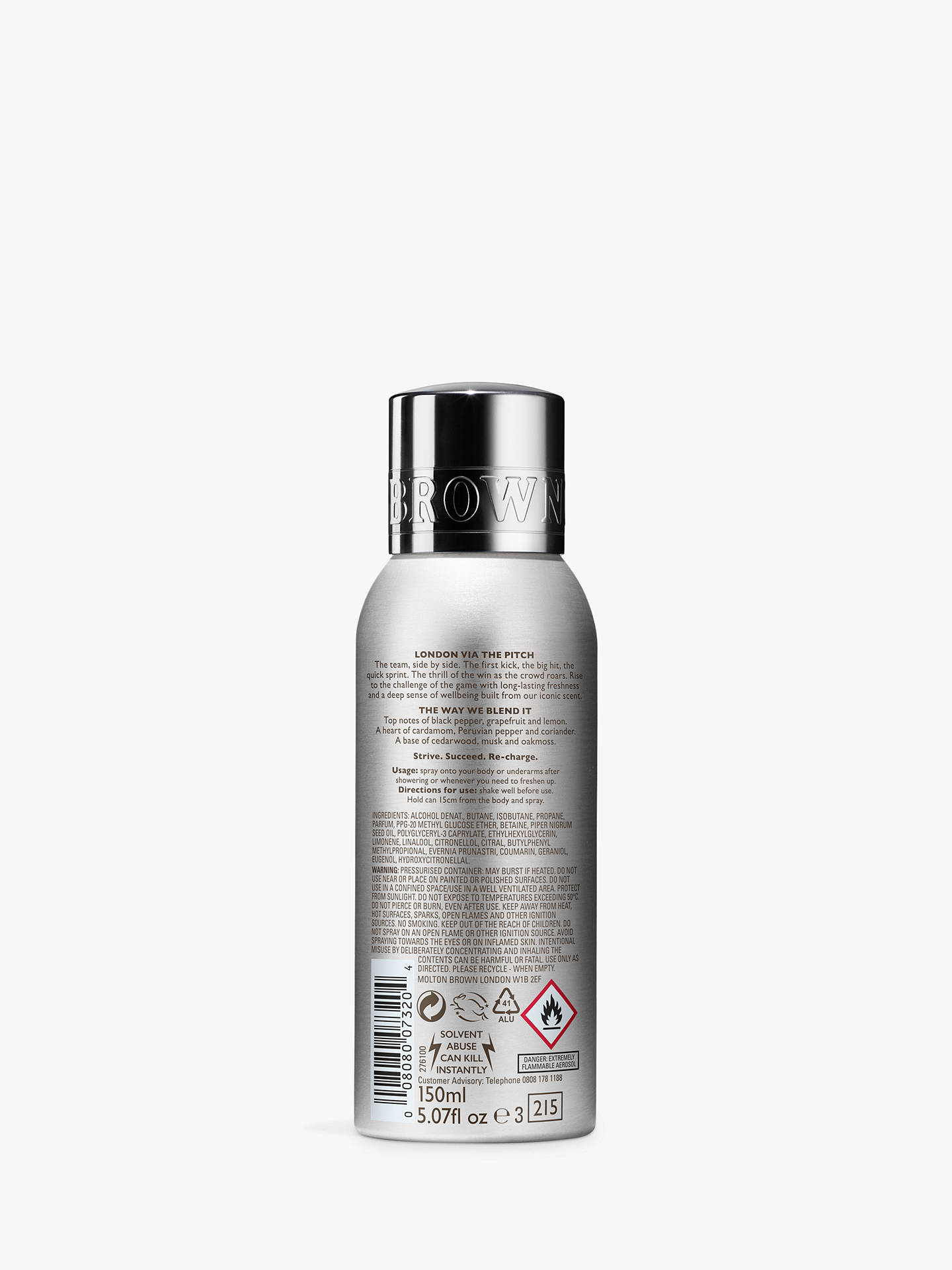 Buy Molton Brown Re-Charge Black Pepper Sport Deodorant Spray, 150ml Online at johnlewis.com