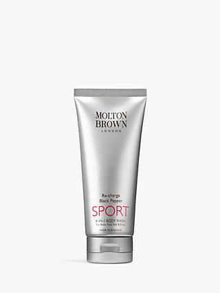 Molton Brown Re-Charge Black Pepper Sport 4-in-1 Body Wash, 200ml