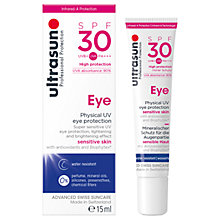 Buy Ultrasun SPF30 Sensitive Eye Cream, 15ml Online at johnlewis.com