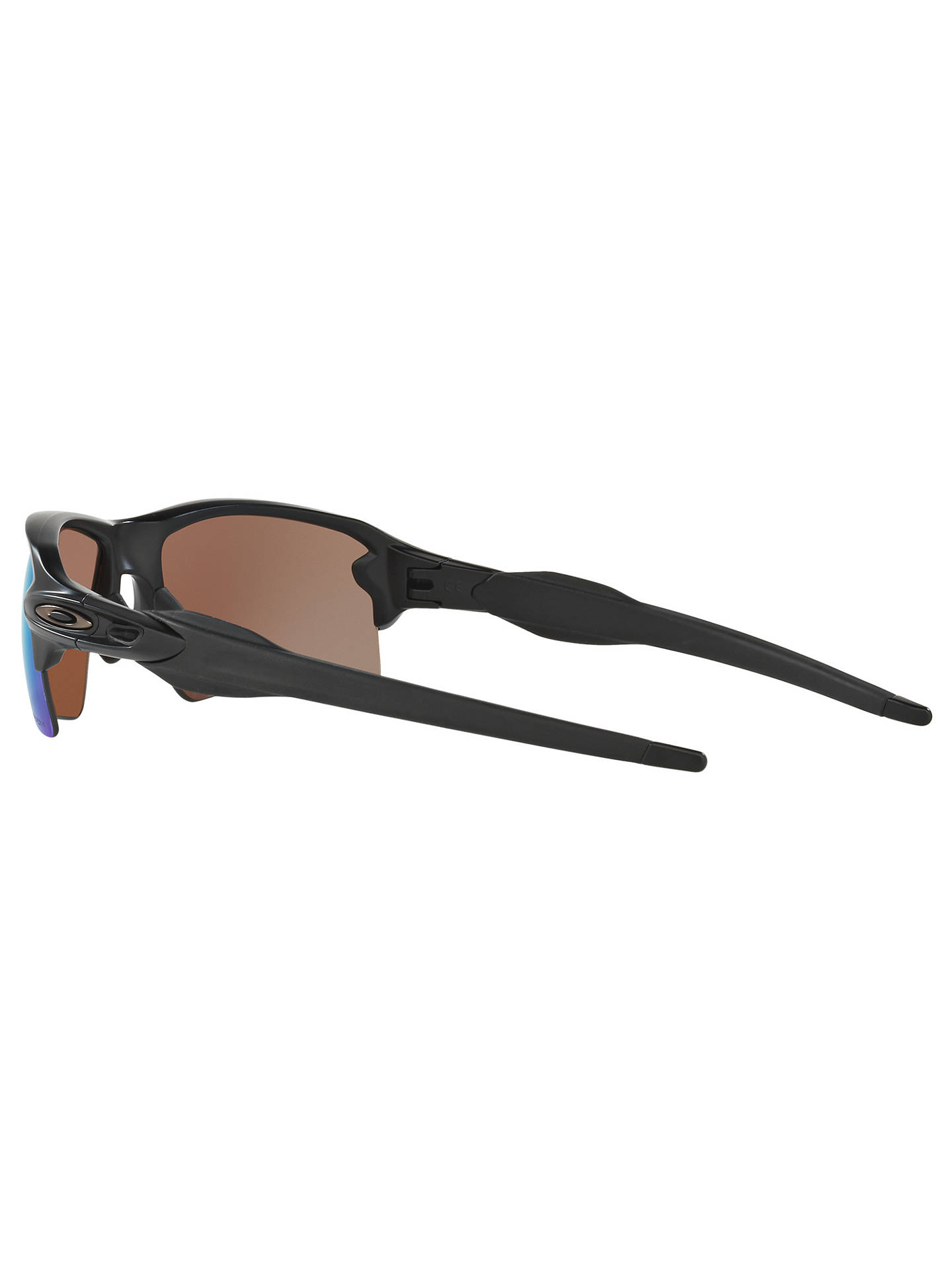 BuyOakley OO9188 Men's Flak 2.0 XL Prizm™ Polarised Rectangular Sunglasses, Matte Black/Deep Water Online at johnlewis.com