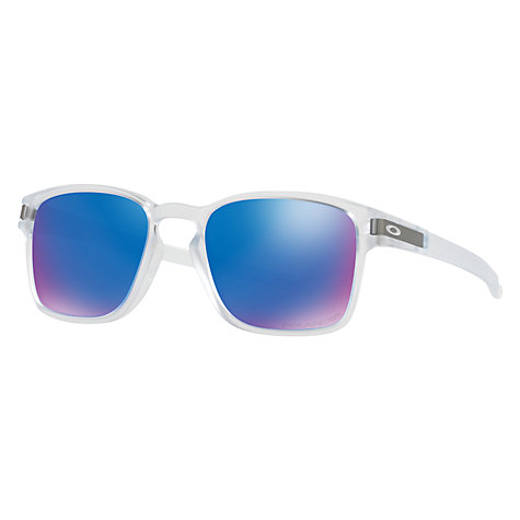 oakley blue and white sunglasses  Buy Oakley OO9353 Latch SQ Polarised Square Sunglasses