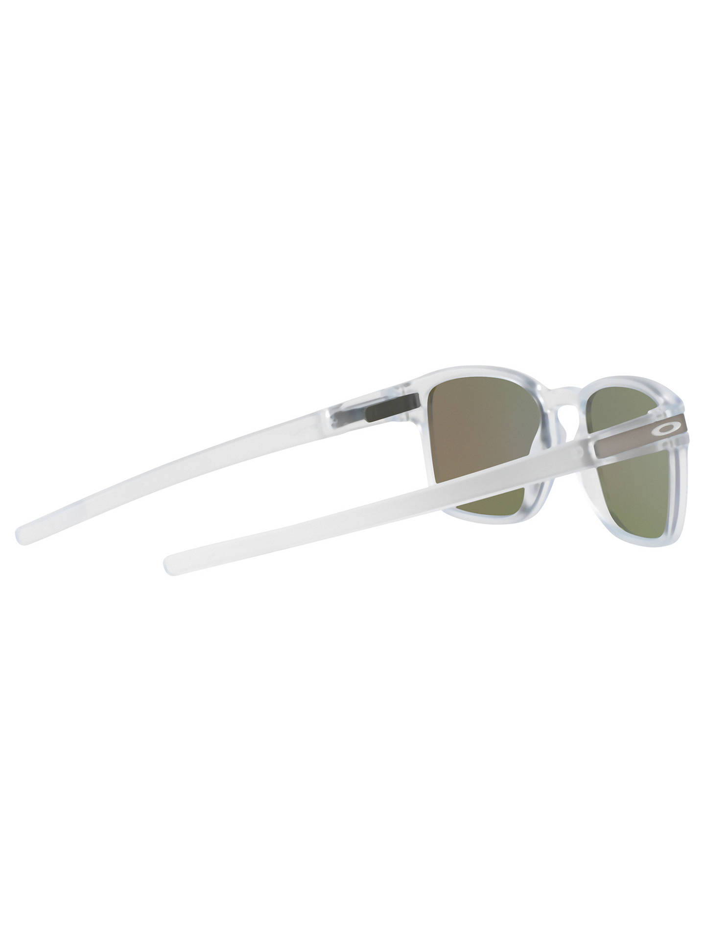 Buy Oakley OO9353 Latch SQ Polarised Square Sunglasses, White/Blue Online at johnlewis.com