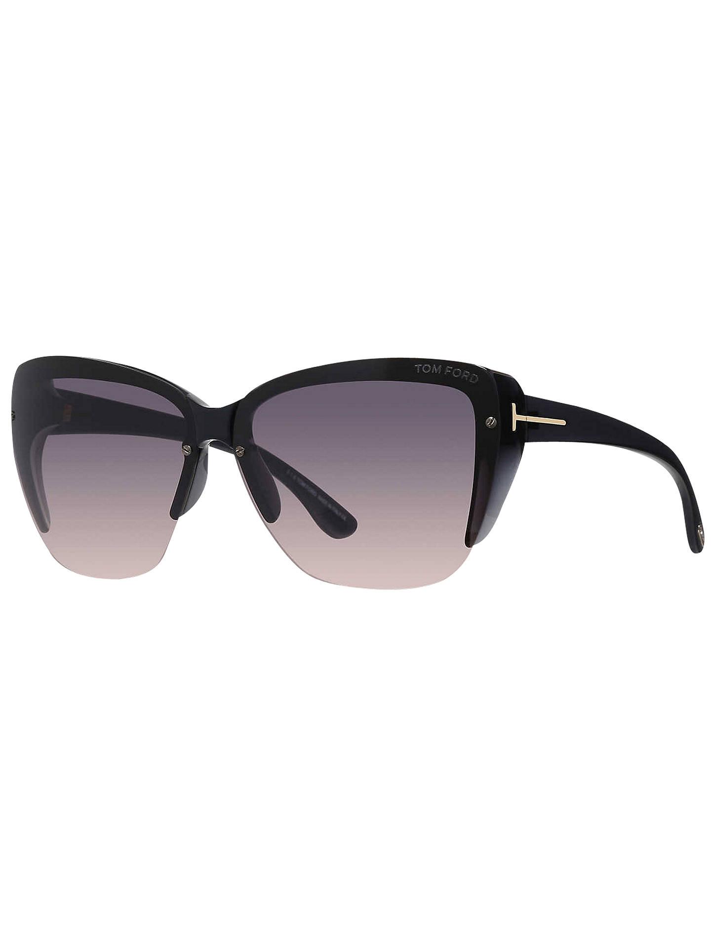 0e5dad6cb2c9 TOM FORD FT0457 Poppy Half Frame Square Sunglasses at John Lewis ...