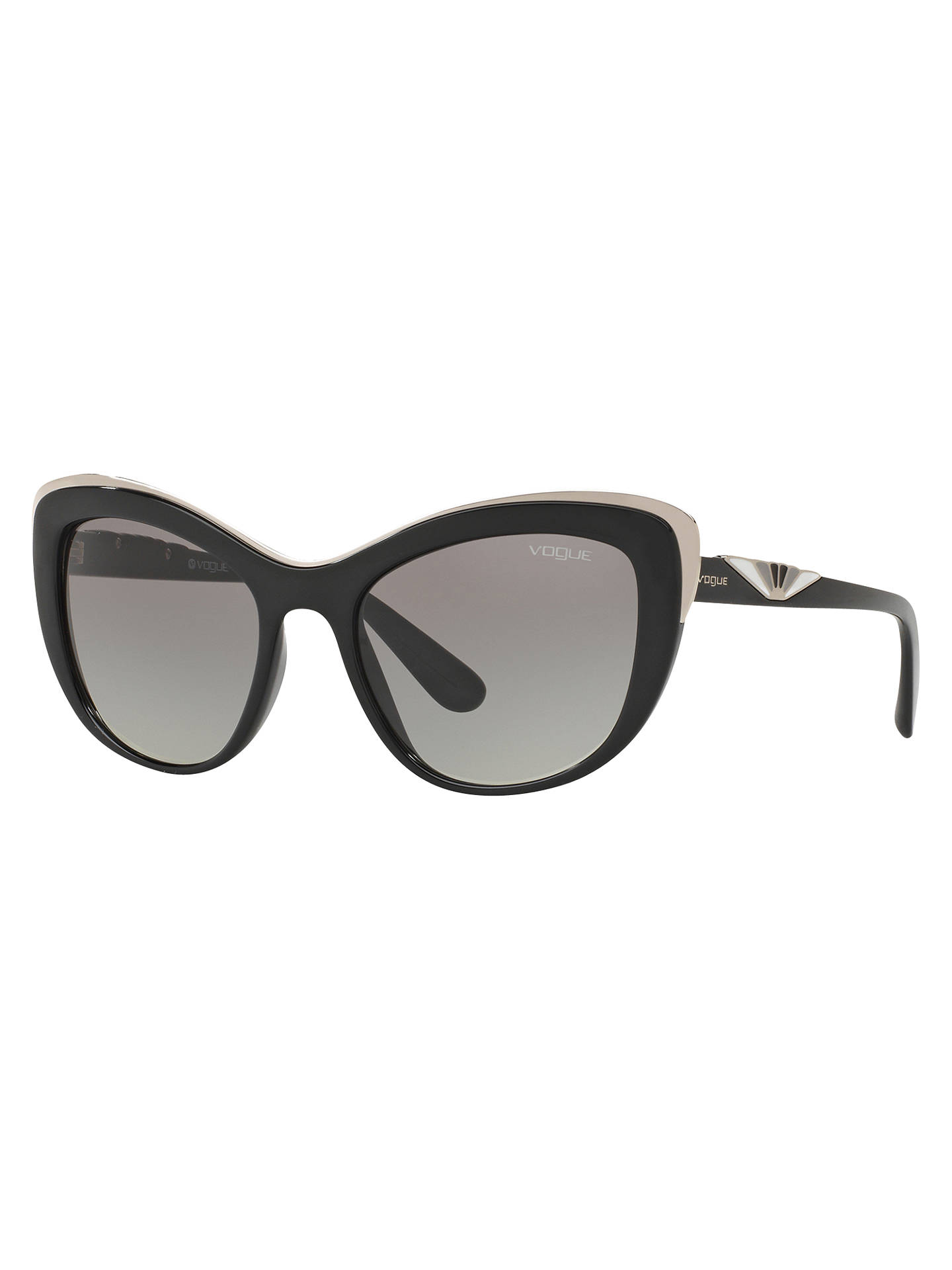 29c236d5c0ab0 BuyVogue VO5054S Cat s Eye Sunglasses, Black Online at johnlewis. ...