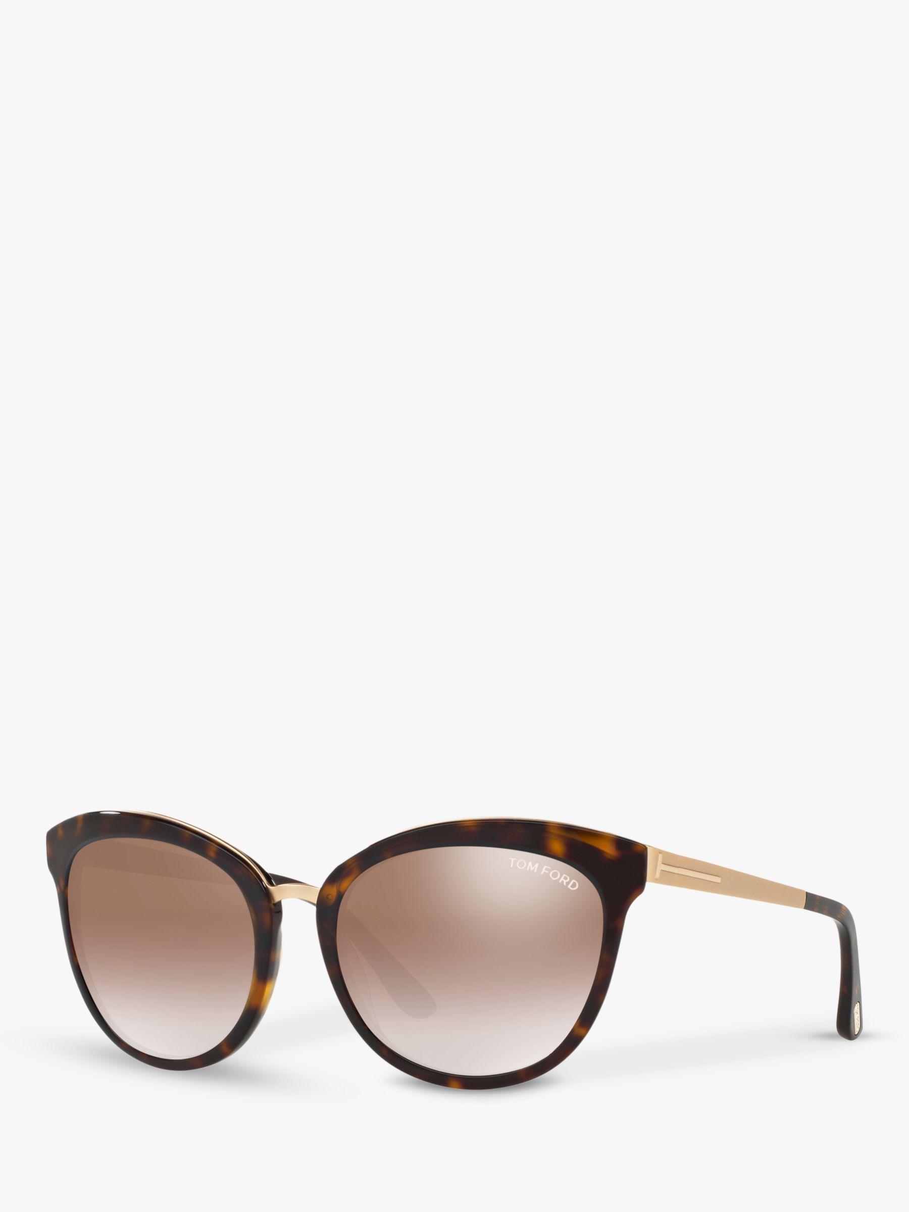 Tom Ford TOM FORD FT0461 Emma Cat's Eye Sunglasses, Tortoise