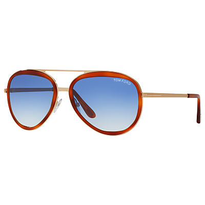 Product photo of Tom ford ft0469 sam aviator sunglasses tortoise
