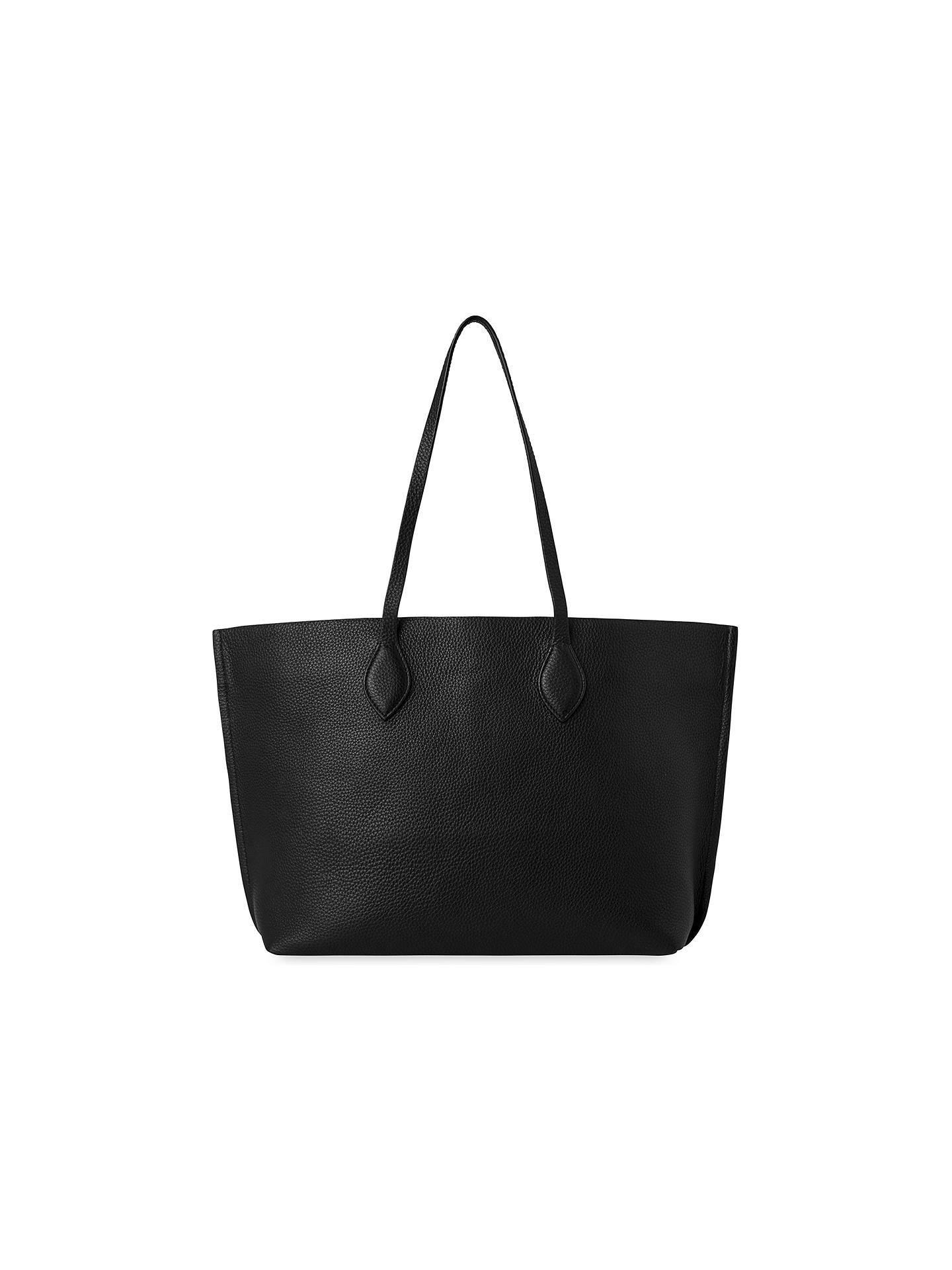 BuyWhistles Regent Soft Leather Tote Bag, Black Online at johnlewis.com