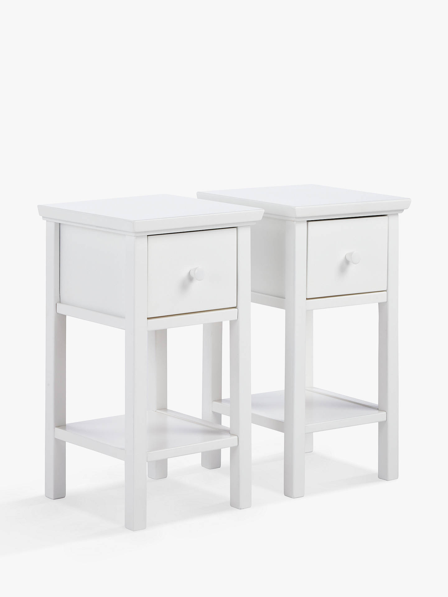 John Lewis & Partners Wilton Set of 2 Bedside Tables, White