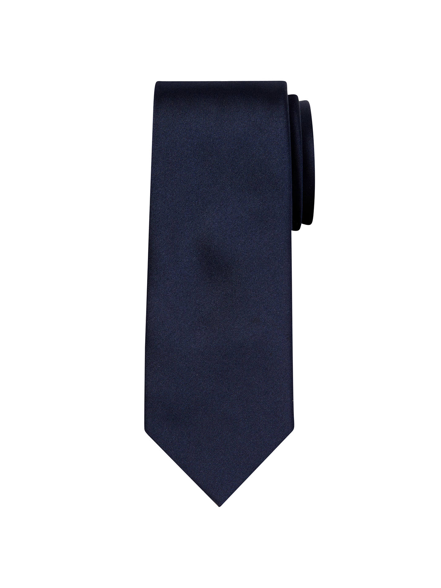 BuyCalvin Klein Plain Silk Tie, Midnight Online at johnlewis.com