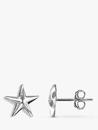 Nina B Sterling Silver Star Stud Earrings, Silver