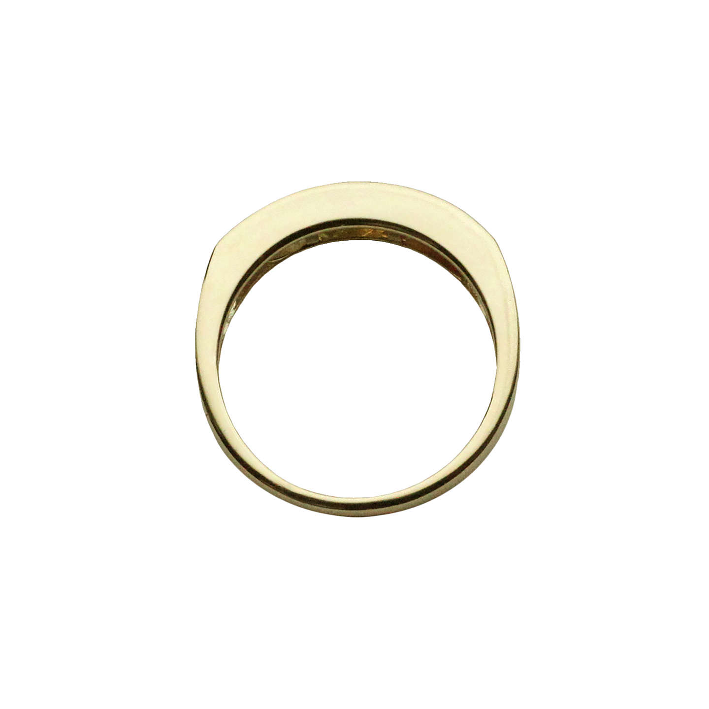 BuyNina B 9ct Gold Princess Cut Semi-Precious Stones Half Eternity Ring, Gold/Multi, M Online at johnlewis.com