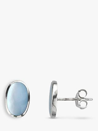 Nina B Oval Stud Earrings