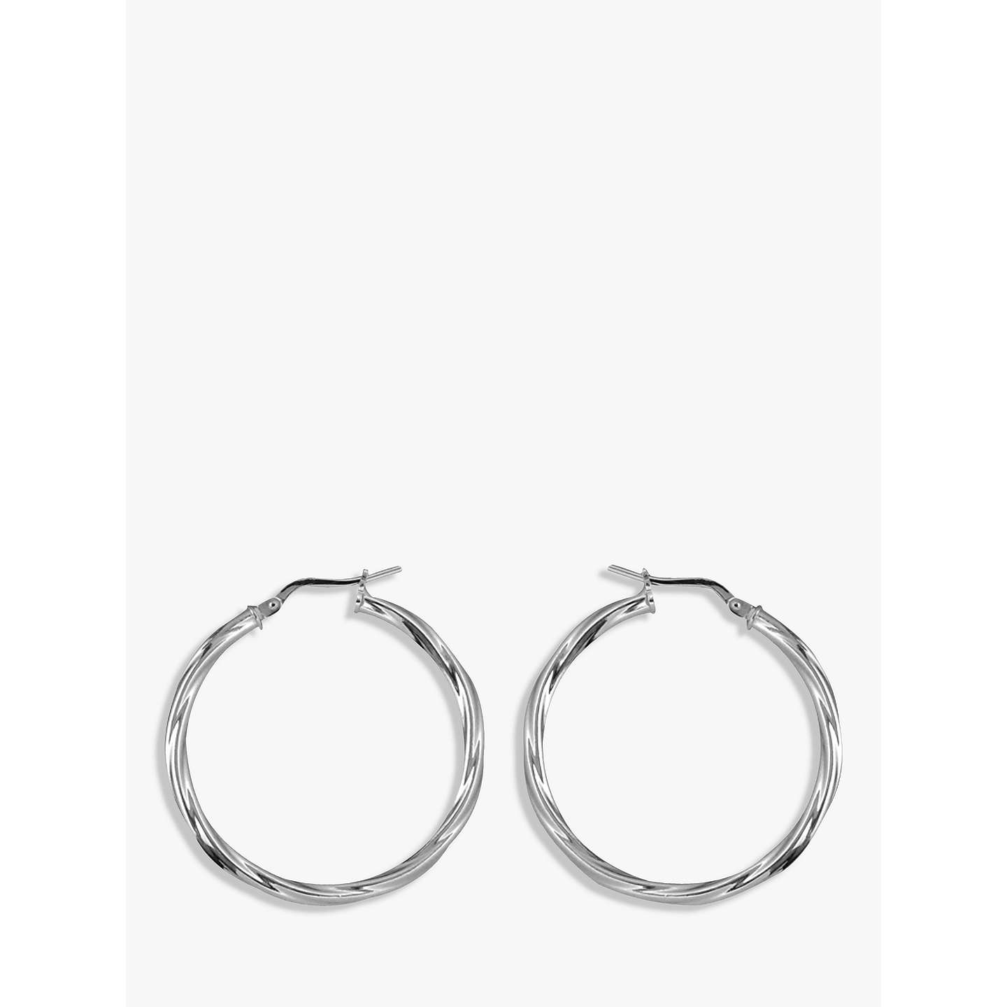 silver weight grams hoop length plated p earrings rhodium square width tube sterling