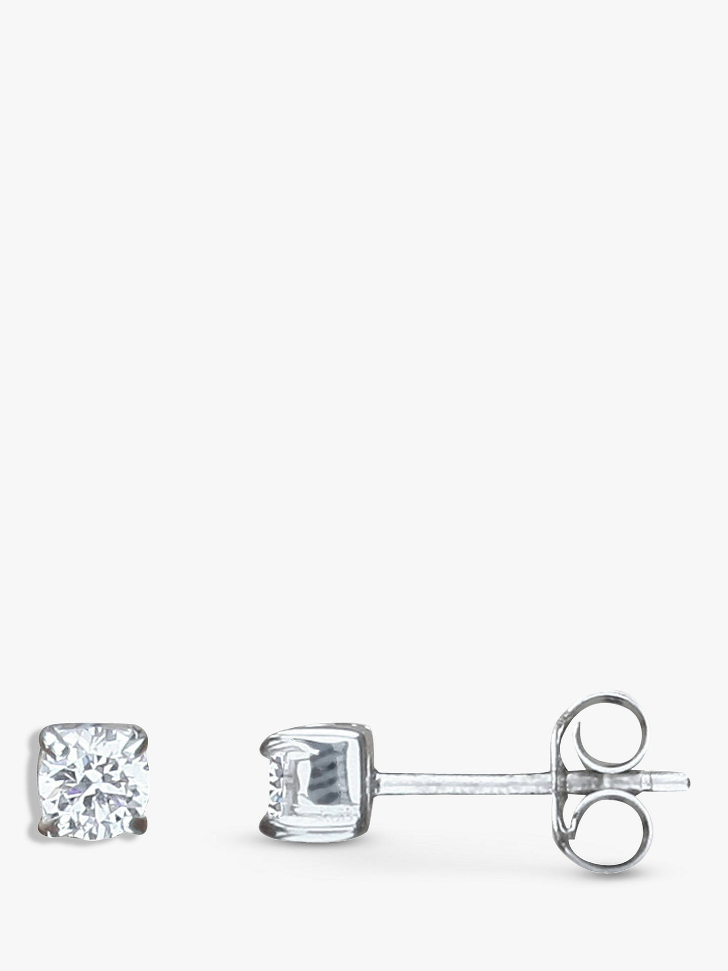 Nina B Claw Set Cubic Zirconia Stud Earrings, Silver by Nina B