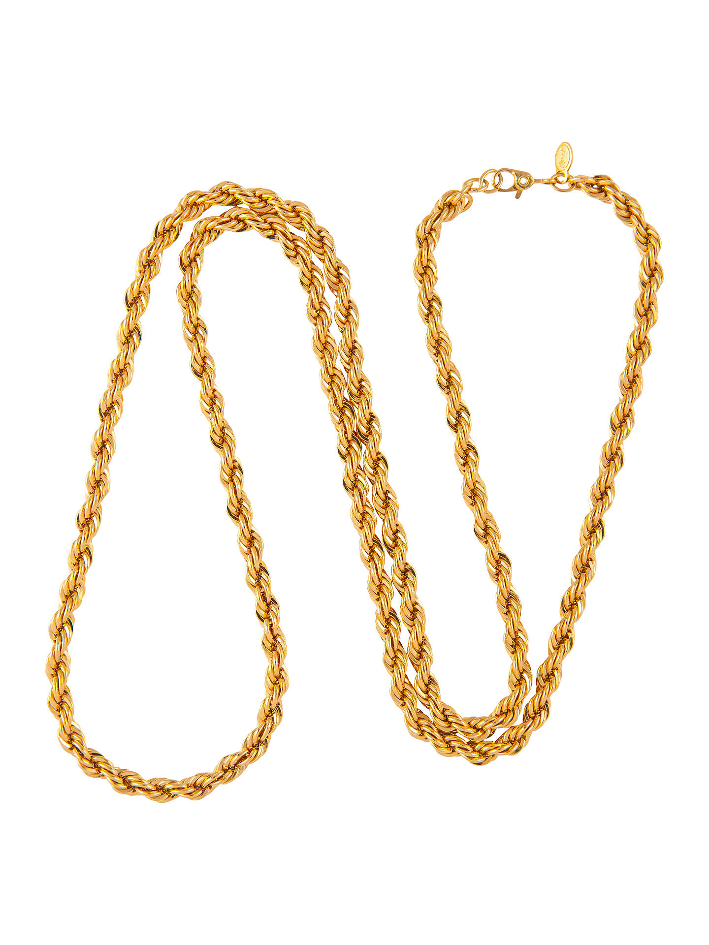 d4d45120415cdb Susan Caplan Vintage 1970s Monet Gold Plated Rope Chain Necklace ...