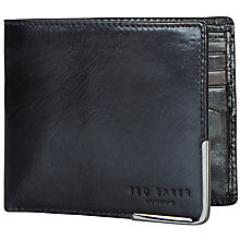 Buy Ted Baker Metal Corner Bifold Wallet, Black Online at johnlewis.com