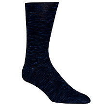 Buy Calvin Klein Flat Knit Socks, One Size, Blue Online at johnlewis.com