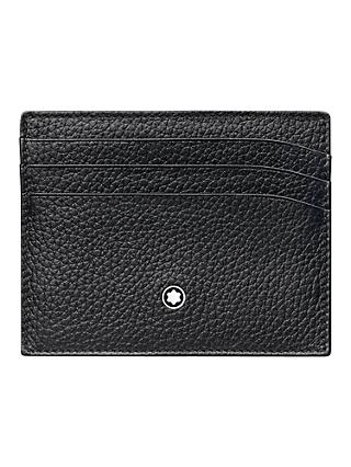 8e101243e9 Montblanc Meisterstück Soft Grain Leather 6 Credit Card Holder, Black