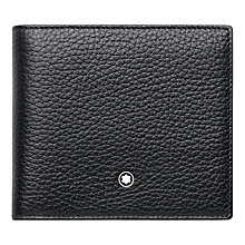 Buy Montblanc Meisterstück Soft Grain Leather 4 Card Wallet, Black Online at johnlewis.com