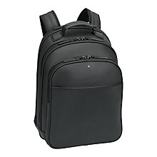 Buy Montblanc Extreme Leather Backpack, Black Online at johnlewis.com