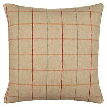 Buy John Lewis Robert Check Cushion, Red Online at johnlewis.com