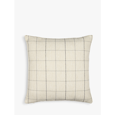John Lewis Robert Check Cushion, Grey