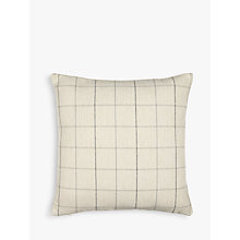 Buy John Lewis Robert Check Cushion, Grey Online at johnlewis.com