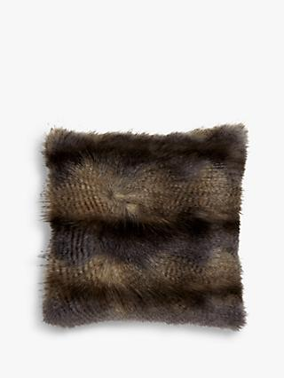 Helene Berman Blue Wolf Faux Fur Cushion