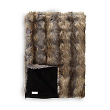 Buy Helene Berman Faux Fur Blue Wolf Throw Online at johnlewis.com