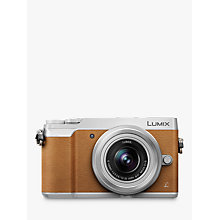 "Buy Panasonic Lumix DMC-GX80 Compact System Camera with 12-32mm Interchangable Lens, 4K Ultra HD, 16MP, 4x Digital Zoom, Wi-Fi, 3"" LCD Touchscreen Free-Angle Monitor,Tan Online at johnlewis.com"